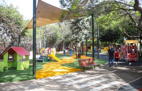 עיריית הרצליה פתחה מחדש את גן בן שפר לאחר שיפוץ נרחב