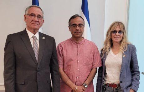 שגריר הודו בישראל הגיע לביקור בעיריית הרצליה